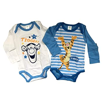 152ce56b3 Disney Winnie The Pooh 2 Pack Bodysuit 100% Heavy Comb Cotton Long Sleeves  for Baby