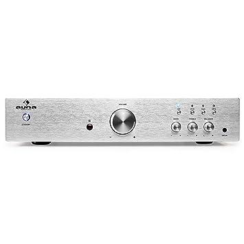 auna AV2-CD508 - Amplificador estéreo HiFi , Home Cinema con Ecualizador de 2 Bandas , Equipo de música 600 W , AUX , 3 in RCA , 1 out RCA , Mando , ...