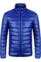 CIOR Men's Down Puffer Jacket Coat Ultra-Lightweight Packable Waterproof With Travel Bag