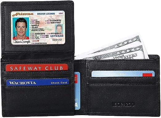 Leopardd Men S Bifold Wallet Best Rfid Blocking Genuine Leather Wallet Credit Card Holder For Men At Amazon Men S Clothing Store