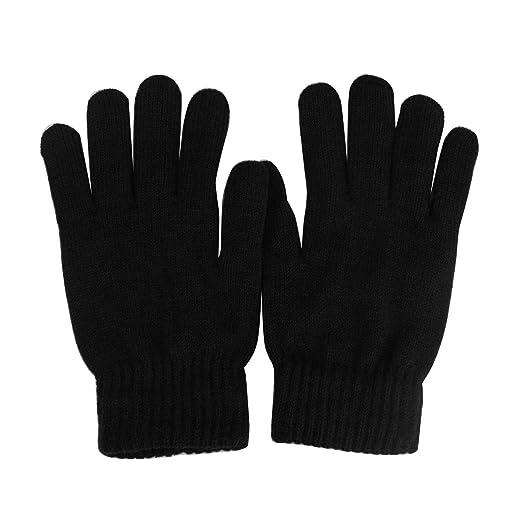 245e13bbf37f2 Men s Everyday Winter Thick Knit Thinsulate 3M Warm Snow Ski Gloves M L  Black