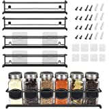 Spice Rack Organizer For Pantry -Kitchen Cabinet Door Organization And Storage - Set of 4 Tiered Hanging Shelf for Spice Jars