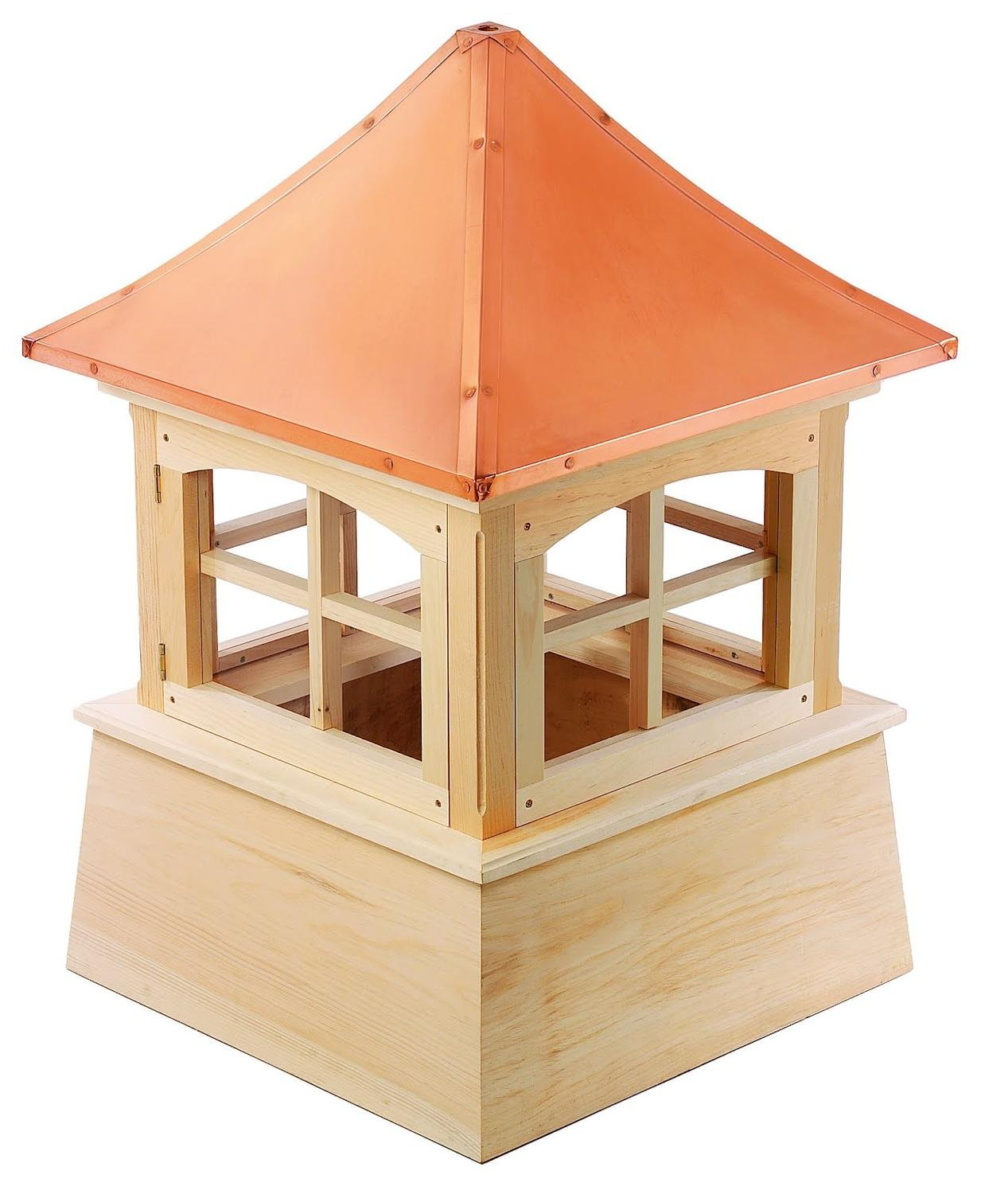 72'' Handcrafted ''Windsor'' Copper Roof Wooden Cupola