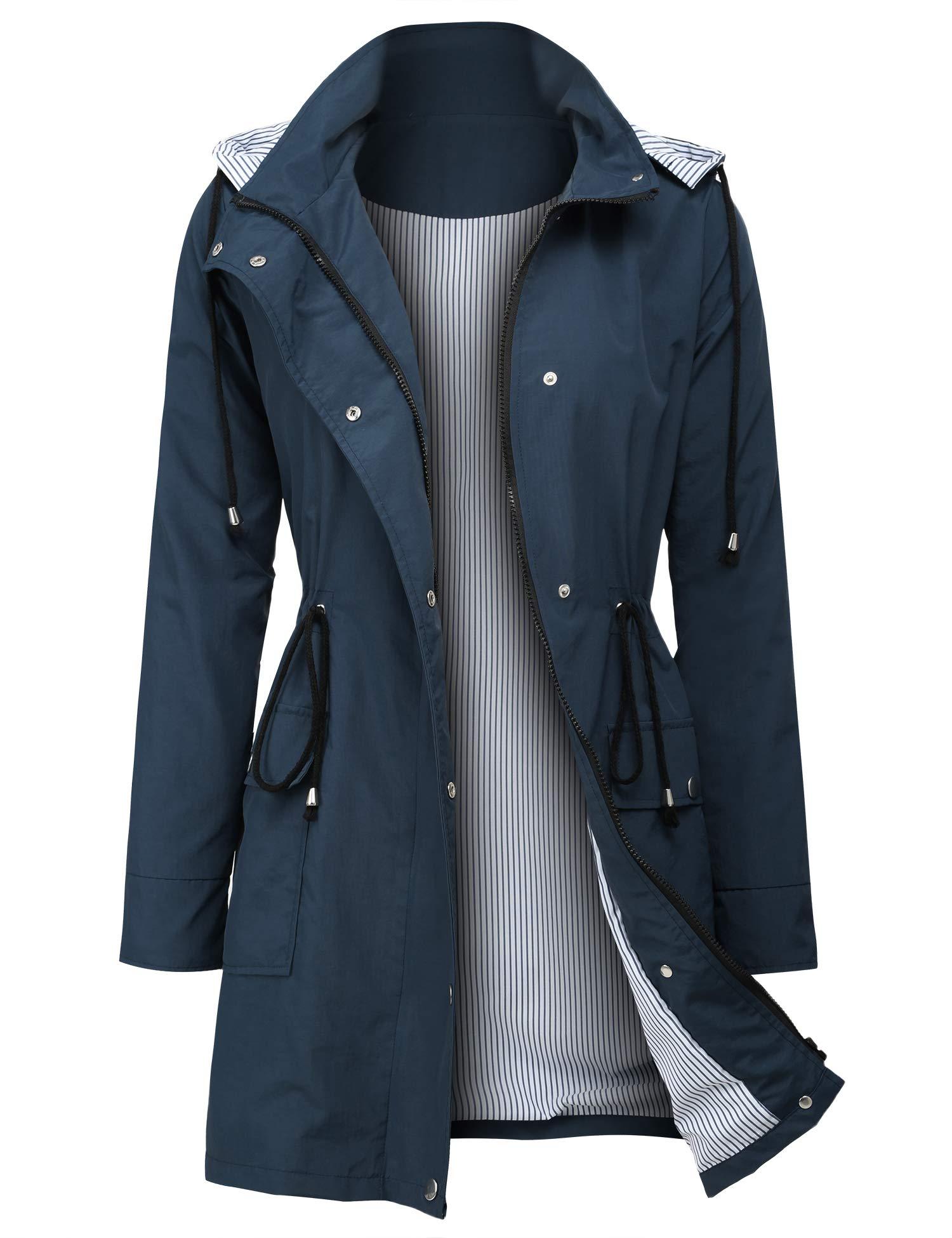 ZEGOLO Women's Rain Jacket Waterproof Hooded Lightweight Active Outdoor Raincoats by ZEGOLO