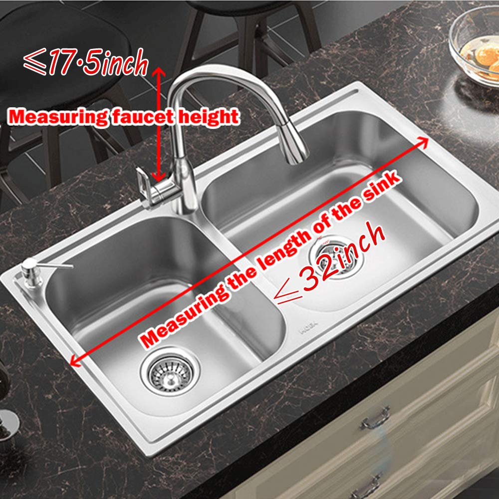 Dish Drying Rack Over Sink Kitchen Supplies Storage Shelf Countertop Space Saver Display Stand