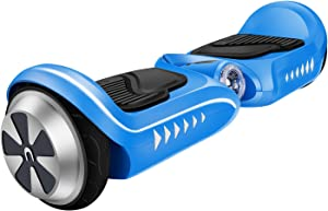IOCHIC SMART-K2 Self Balancing Hoverboard Skins UL2272 Certificate Two-Wheel Self Balancing Electric Scooter for kids, LED Light(Blue)