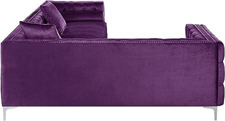 De Lujo 100/% Algodón Terciopelo Velour material de la Tela-Púrpura