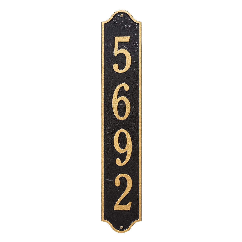 "Custom Admiral Estate VERTICAL Address Plaque 5""W x 28""H (1 Line)"