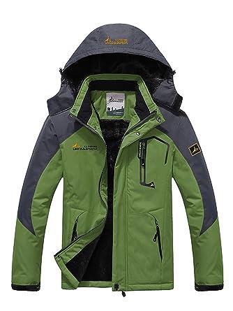 Zando Women s Mountain Waterproof Fleece Ski Jacket Windproof Rain Jacket  Outdoor Athletic Hiking Warm Windbreaker Grass a80200656