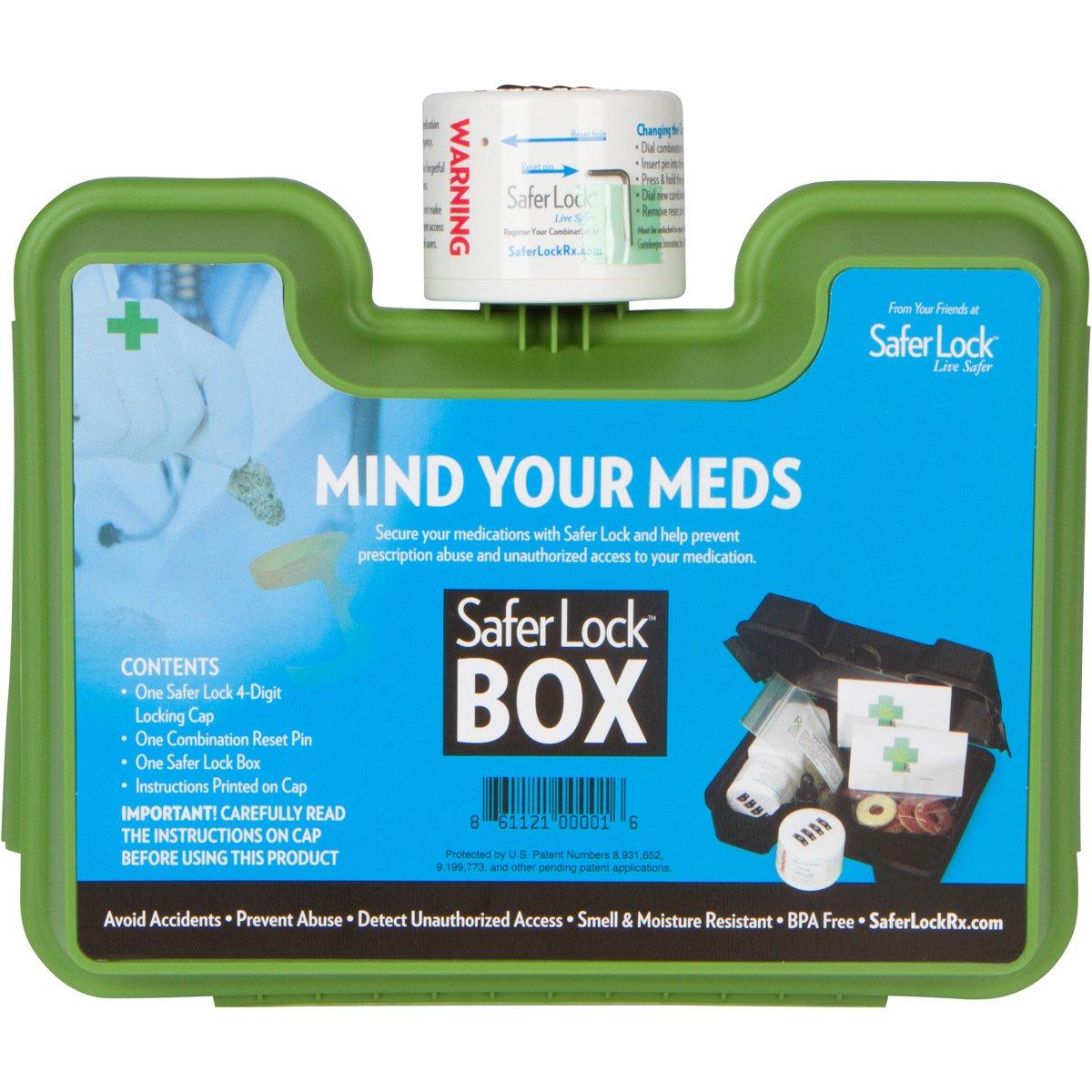 個人用ストレージロックボックスwith Combination Lock Medicationを保護し – グリーン B075X99ZXN