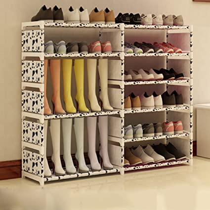 7e03a58aa4 Organizador De Calzado Alto De Acero Inoxidable Plegable Organizador De La  Caja De Zapatos Soporte De