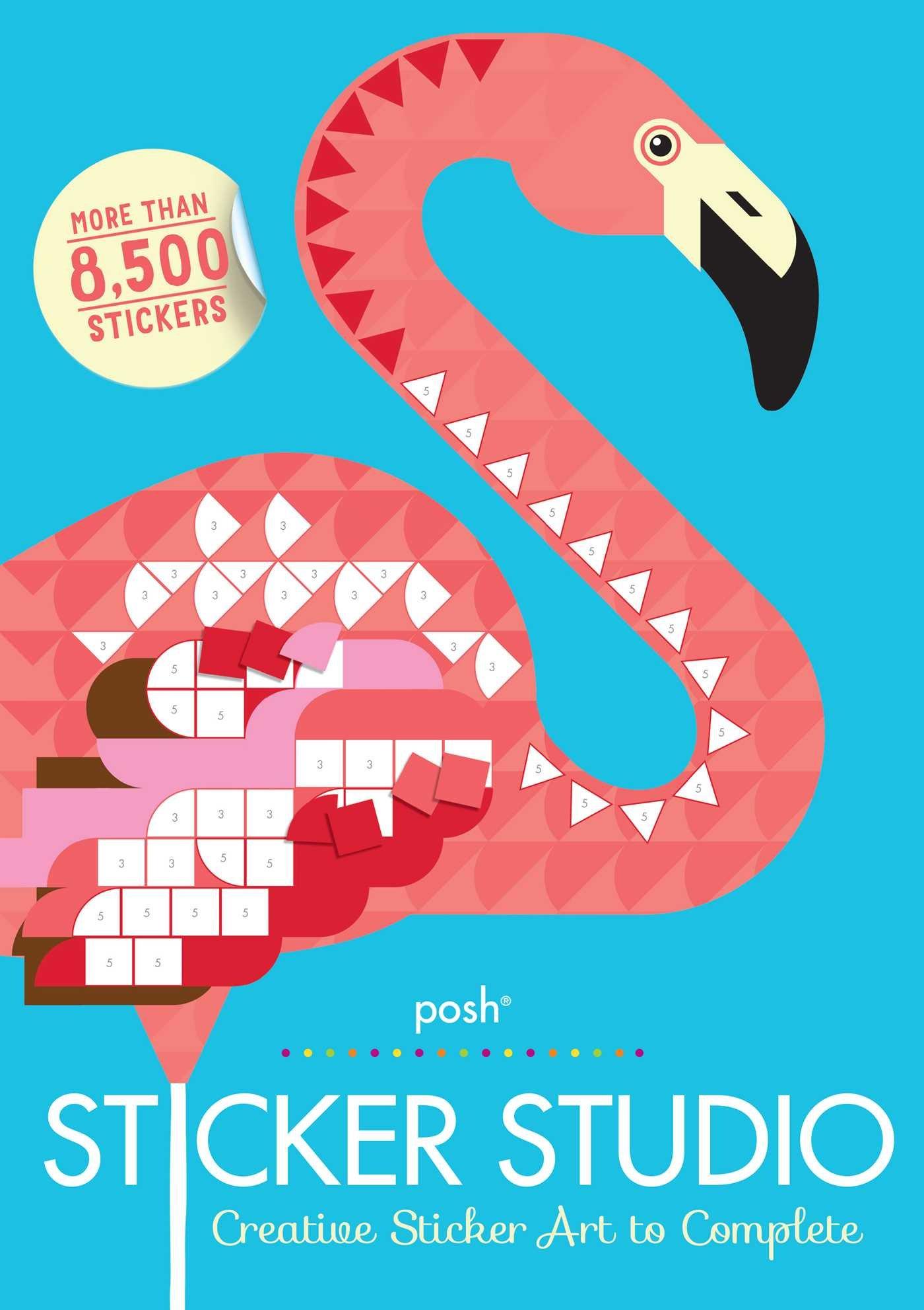 Posh Sticker Studio: Creative Sticker Art to Complete PDF