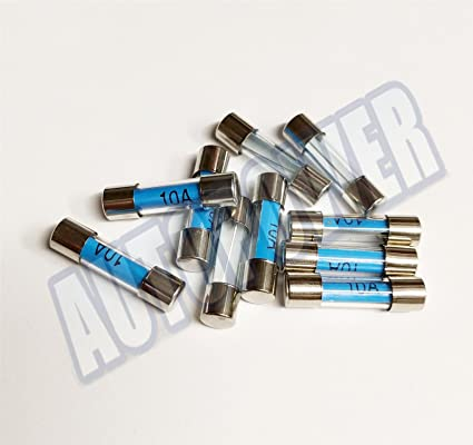 10x 1amp Mini 5mmx20mm Glass Radio 10a Fuse Car Boat Wire Cable Electrical