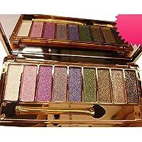 DISAAR BEAUTY 9 Colors Glitter Eyeshadow Eye Shadow Palette & Makeup Cosmetic Brush Set NEW (#01)