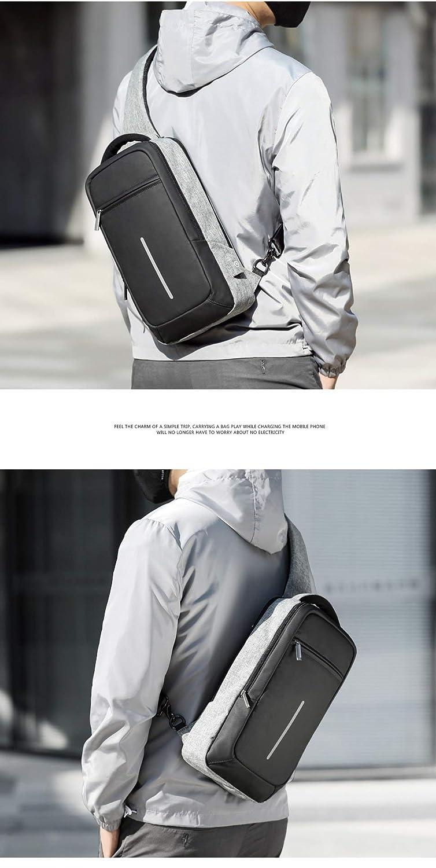 Amazon.com: Multipurpose Men Crossbody Bags Chest Pack Short Trip Messengers Bag Waterproof Shoulder USB Repellent Sling 2018: Kitchen & Dining