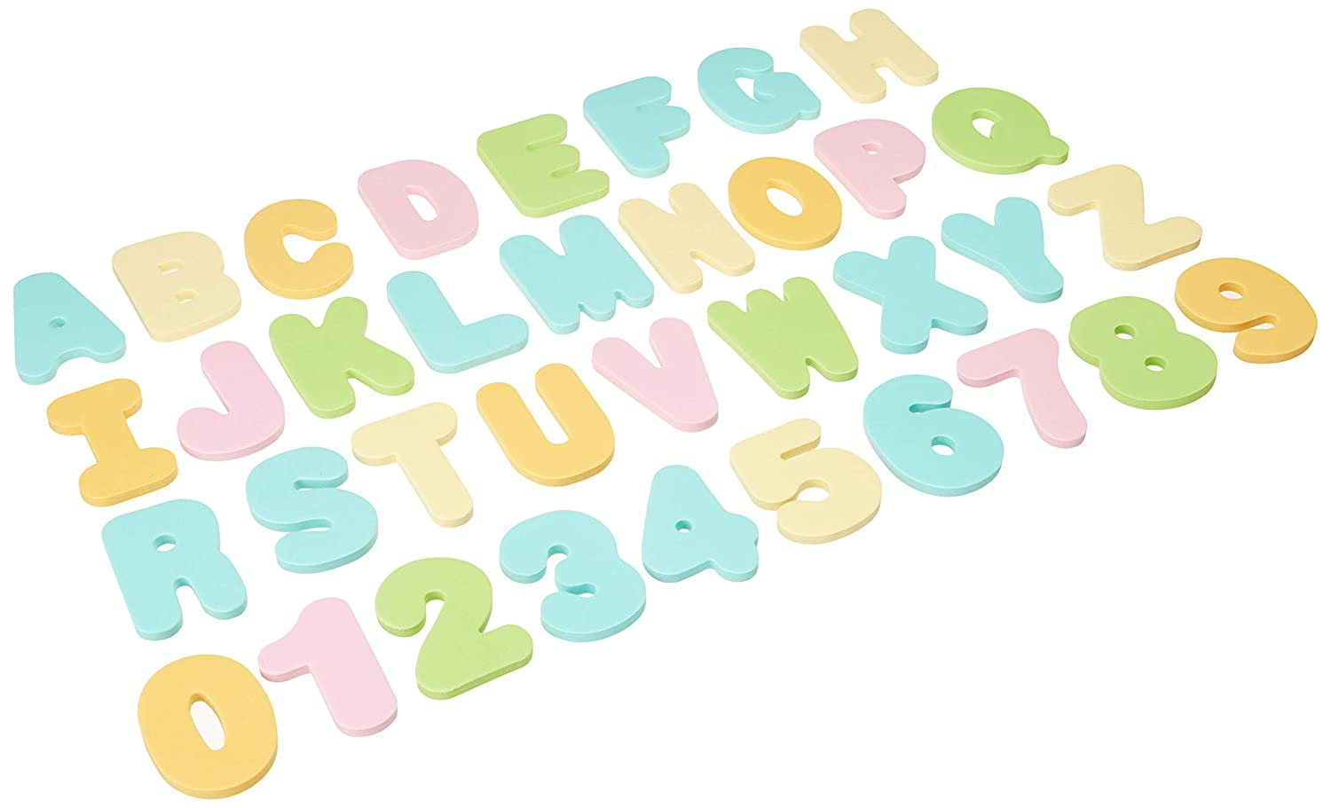 Munchkin 36 Bath Letters and Numbers Pastel
