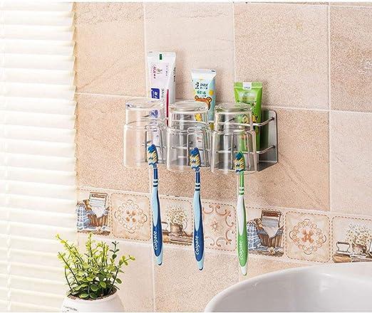 MSchunou Mueble de baño multifunción, soporte para cepillo de ...