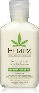 product image for Hempz Sensitive Skin Herbal Body Moisturizer with Oatmeal, Shea Butter for Women and Men,2.25 oz. -Premium,Soothing Body Lotion with Hemp Seed, Cocoa Seed, Mango Seed for Dry Skin -Skin Care Products