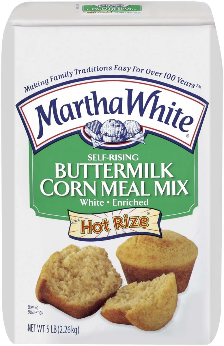Martha White Self-Rising Buttermilk Corn Meal Mix 5 lb (Pack of 2)