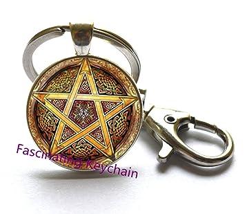 Puntas de llavero, pequeño Pentagrama de Pentagram Llavero ...