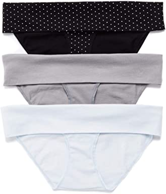 f51748ea8daf Motherhood Maternity Women's Maternity 3 Pack Fold Over Brief Panties
