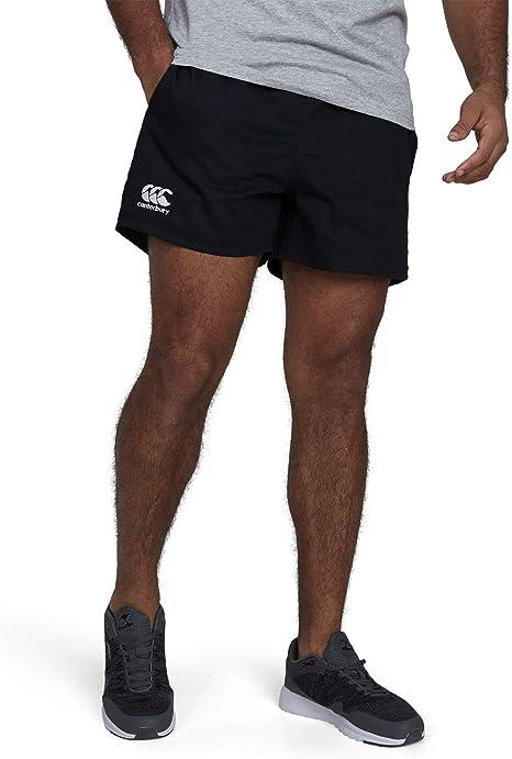 Canterbury Pantalón Corto de Rugby Profesional, algodón, para Hombre, Color Blanco, Talla: 4XL, Hombre, Color Negro, tamaño 4XL: Amazon.es: Ropa y accesorios