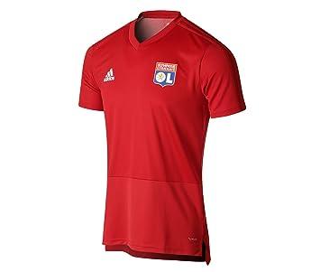 4f93ebcca5e Olympique Lyonnais T-Shirt Entrainement Adulte Rouge 18 19 (L ...