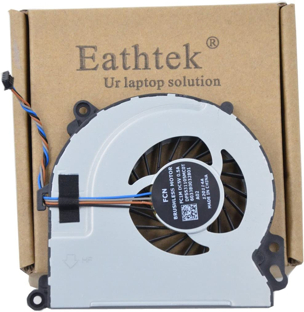 Eathtek Replacement CPU Cooling Fan for HP Envy 17-J 17-J000 17-J100 Series