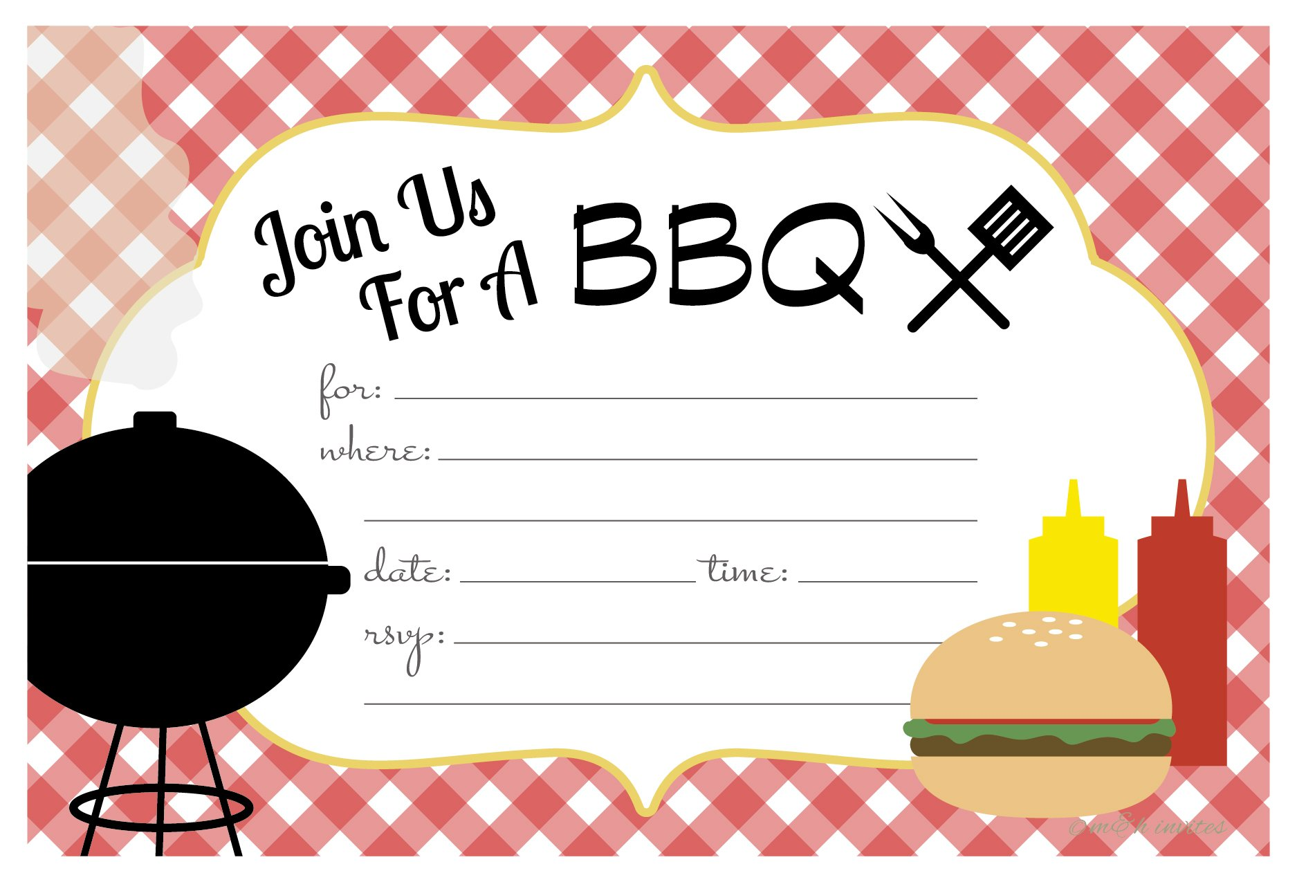 picnic invitations amazon com rh amazon com Raffle Ticket Clip Art Family Barbecue Clip Art