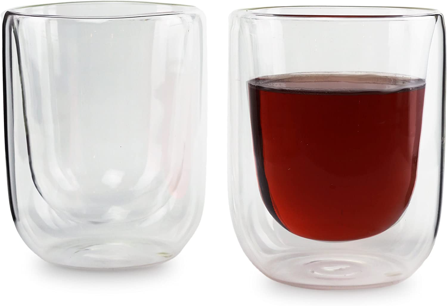 Circleware 44931 Thermax set of 2-13.8 Oz. Double-Wall Insulated Multi Purpose drinking glasses Home and Kitchen Utensils, 13.8oz