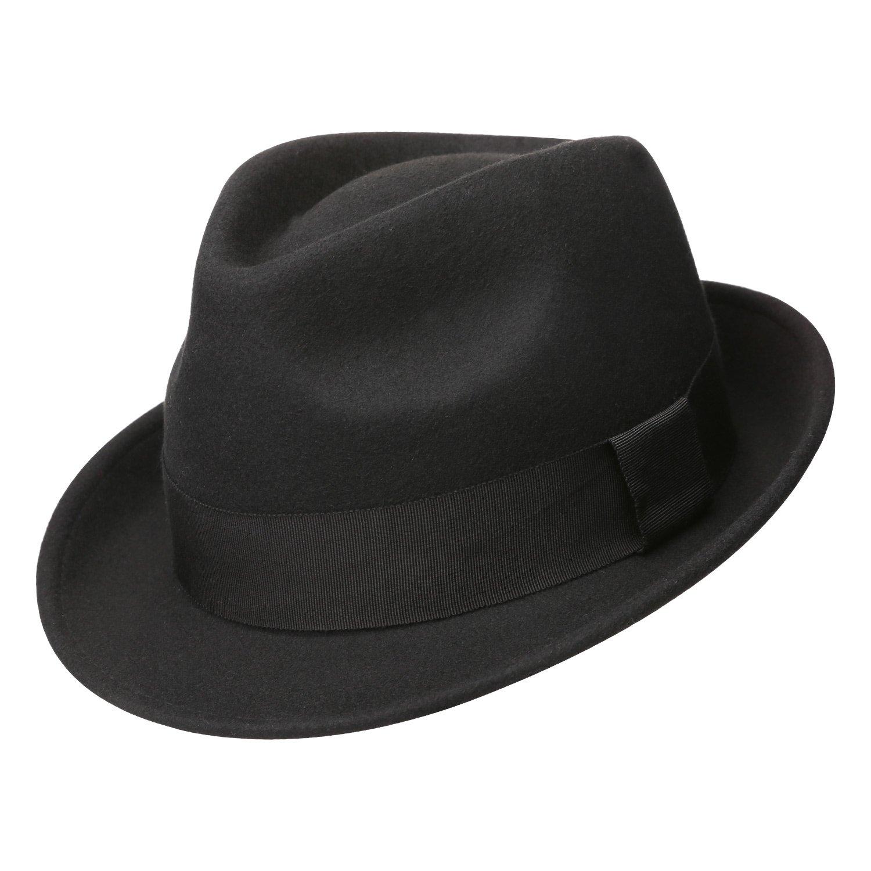 07bdaac46eb Sedancasesa Mens Felt Fedora Hat Unisex Classic Manhattan Indiana ...