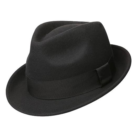 1994038c8f5 Sedancasesa Mens Felt Fedora Hat Unisex Classic Manhattan Indiana Jones Hats  (M