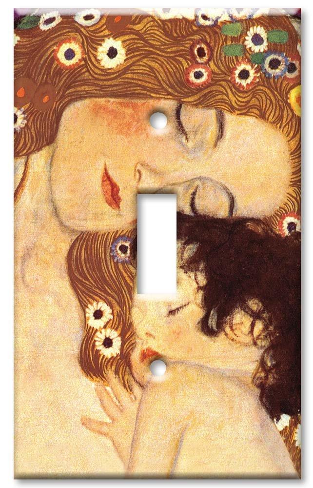 Art Plates - Klimt: Mother & Child Switch Plate - Single Toggle