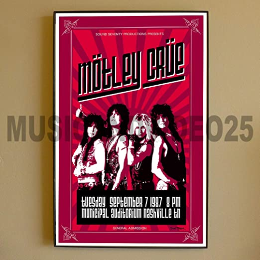 MOTLEY CRUE 80s 90s Poster Wall Art Home Photo Print 24x36 inches 2