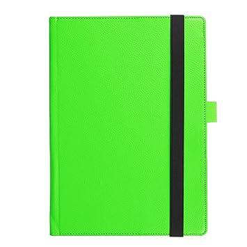 Qiaogle Tableta Case - Funda de PU Cuero Clamshell Carcasa Cover para Lenovo Yoga Book 2-in-1 Tablet (10.1 Pulgadas) - KP05 / Verde Estilo