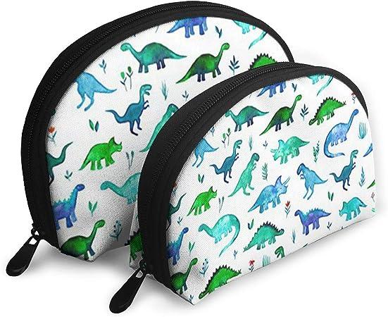 Fechahao Dinosaurs Tiny Dinos en Azul y Verde Bolsas de Maquillaje para Hombres/Mujeres, Bolsa de Aseo de Viaje, Estuche Oxford: Amazon.es: Hogar