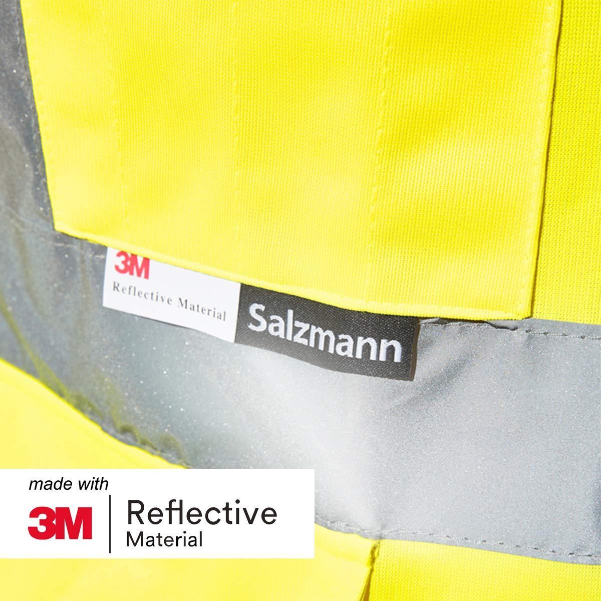 realizzato con nastro riflettente 3M Salzmann 3M gilet multi-tasche da lavoro ad alta visibilit/á 100/% cotone
