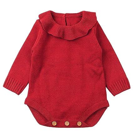 Ropa bebé, Recién Nacido bebé niño niña Mameluco de Punto Mono Trajes Ropa Conjuntos Amlaiworld
