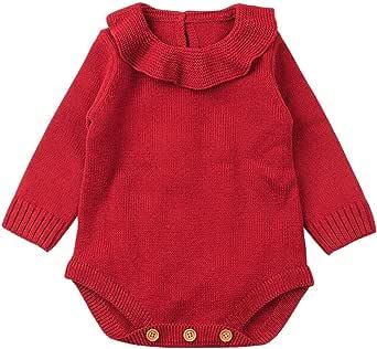 Ropa bebé, Recién Nacido bebé niño niña Mameluco de Punto Mono Trajes Ropa Conjuntos