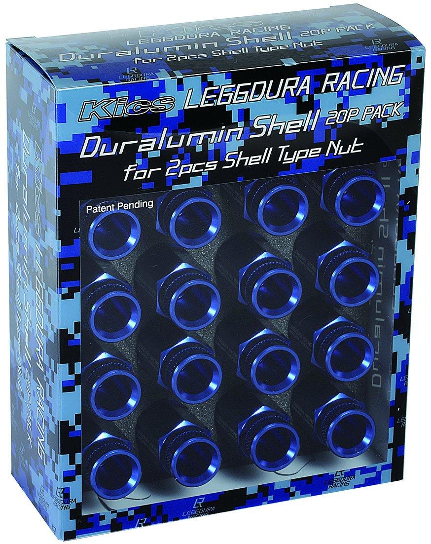 KYO-EI (協永産業) キャップ LEGGDURA RACING Shell Type Nut Duralumin Shell RL53 【 ローレットタイプ 】 【 ブルー 】 SLRNU2 B012AWB1ZS ブルー ブルー