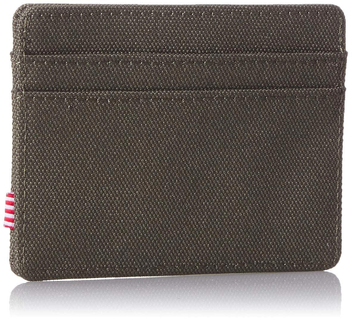 Herschel RFID Wallet Charlie Dark Olive//Lime Green