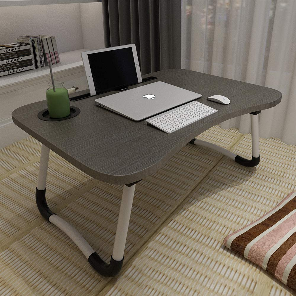 Reading Astory Laptop Bed Table Watching Movie on Bed//Couch//Sofa White Maple Portable Lap Desk Notebook Stand Reading Holder Breakfast Tray with Foldable Legs /& Cup Slot for Eating Breakfast
