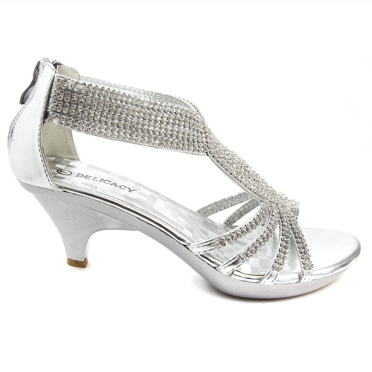 47278976eee955 V-Luxury Womens 32-ANGEL37 Open Toe Med Heel Wedding Sandal Shoes   Amazon.ca  Shoes   Handbags