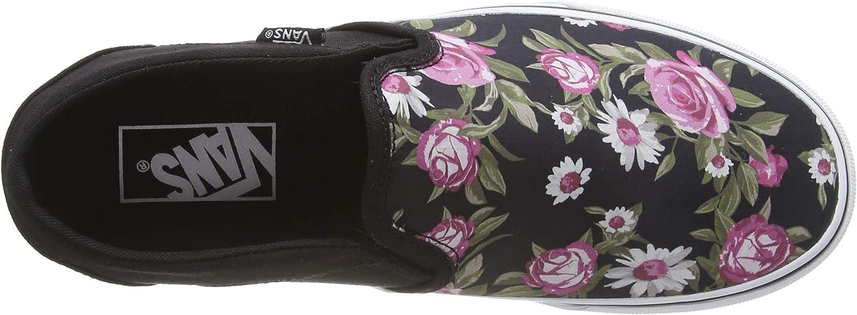 Vans Asher, Scarpe da Ginnastica Donna Multicolore Roses Black Xnw