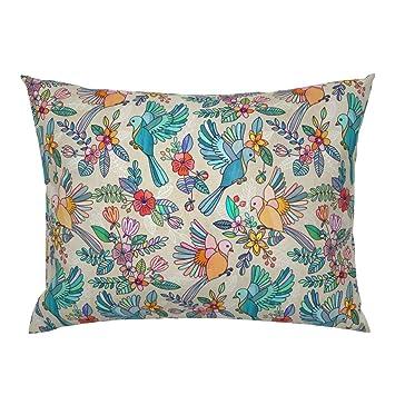 Amazon.com: roostery caprichoso pájaro flores Floral Verano ...