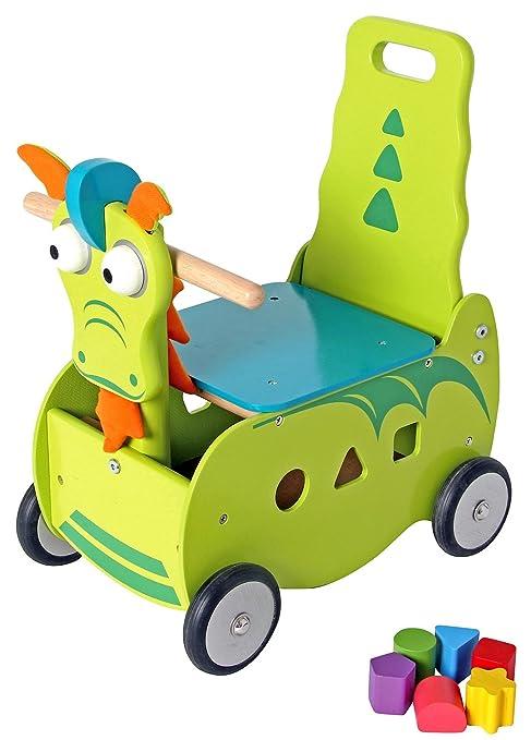 Primi Passi montar de madera carro Dragón cm 40 x 27 x 48 ...