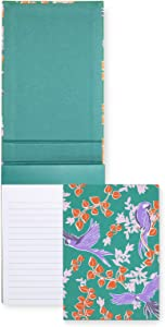 Kate Spade New York Green Desktop Notepad with 200 Lined Pages, Bird Party