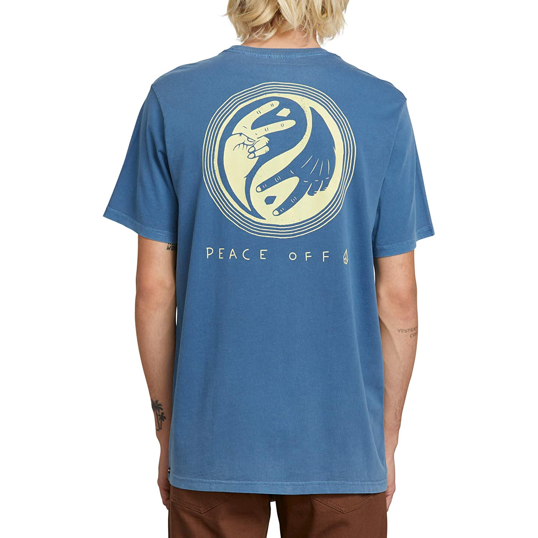 72d8145ea63f Amazon.com: Volcom Men's Peace Off Short Sleeve Tee Indigo: Clothing
