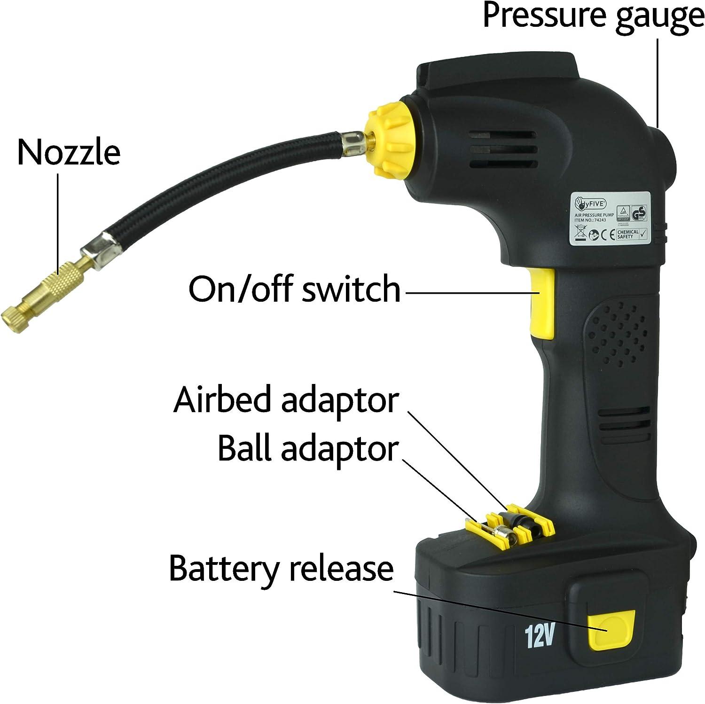 LED Light Car Adaptor LCD Display Veko Cordless Digital Tyre Inflator with 12V Battery Portable Air Compressor