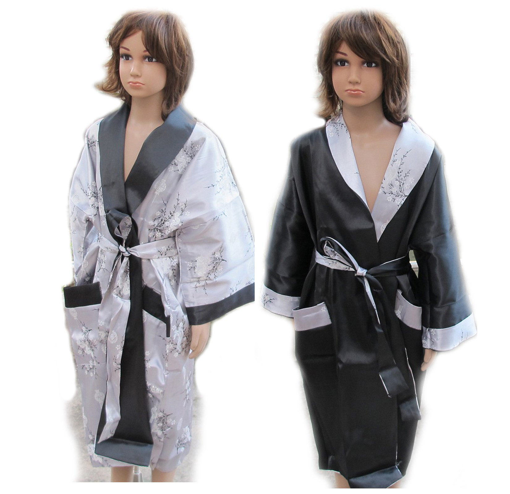 CHILDREN BATH ROBE JAPANESE KIMONO SATIN AND SILK WITH COMPLIMENTARY by eThaiComplex (Image #8)